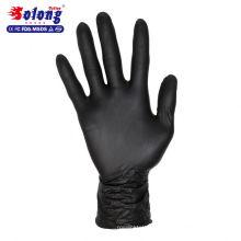 Solong tatouage autorisé noir nitrile gants de tatouage jetables