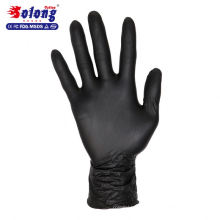 Solong tattoo authorized black nitrile disposable tattoo gloves