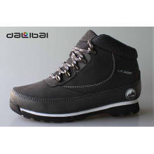 Competitive price wholesale VELVET lining classic black mens high cut shoes
