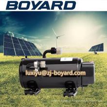 Venda quente vertical giratório R134A 10000BTU 48V dc portátil carro mini compressor de ar 12v para sistema de 12v/24v/48v/72v