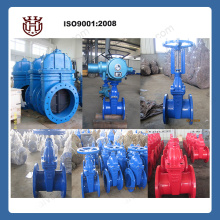 Best quality cast iron rubber seated gate valve DN40-DN1200