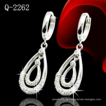 Mode 925 Sterling Silber Ohrring mit CZ (Q-2262)