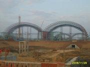Galvanized Long Span Steel Structures , Semi-transparent Skylight Belts