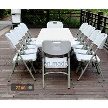 Muebles de jardín de 8 pies Durable Plastic Folding Long Suitcase Table (molde de soplo, camping, picnic, fiesta, eventos)
