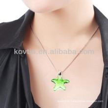 Wholesale yiwu cheap star shape diamond crystal pendant