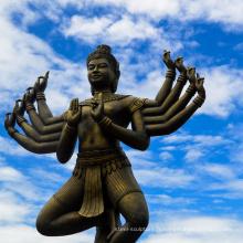 seigneur de haute qualité vishnu avec la déesse lakshmi statue