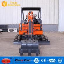 Máquina escavadora da esteira rolante da maquinaria movente de terra de 1,8 toneladas mini micro
