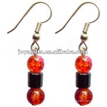 Fashion Hematite Crack Perles de verre Boucles d'oreilles