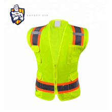 Wholesale 100% Polyester Custom 120g Traffic Road Work Construction Security High Visibility Reflective Safety Vest with Logo