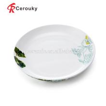 Plato y plato de la placa de la cena de cerámica