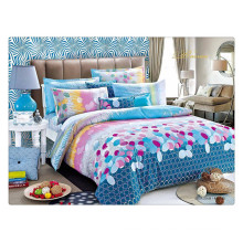 Floral luxury 40s 128*68 pigment printing 100% cotton thick duvet cover sets