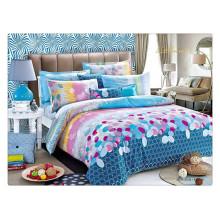 Floral luxo 40s 128 * 68 pigmento de impressão 100% algodão espessa capa de edredão define