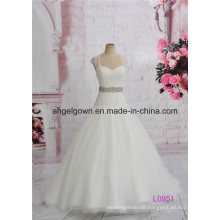Ivory Long Ball Gown Wedding Princess Dress