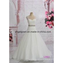 Vestido de baile de casamento longo vestido de baile marfim