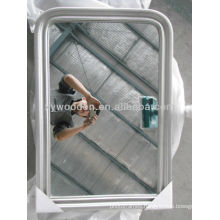 Wood Frame Flat Mirror Irregular Designer Mirror Frame