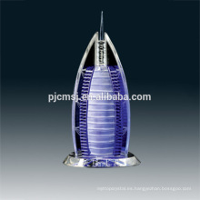 Top venta de calidad garantizada nueva llegada LED luz cristal Burj Al Arab Hotel modelo de construcción