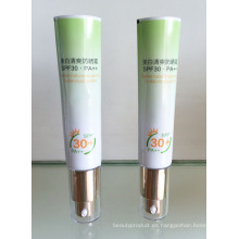 Aluminio laminado tubo crema bloqueador solar con cabezal de 25mm
