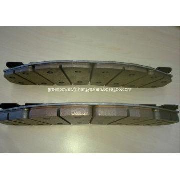 Plaquettes de freins de haute qualité avec ISO2001