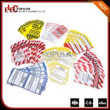 Elecpopular Produtos mais vendidos Colorido OEM Segurança Sinais de aviso PVC Lockout Industrial Lable Tags