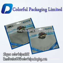Wholesale fish lure plastic packaging bag with ziplock/Custom printed fishing bait bag with ziplock and hanger hole
