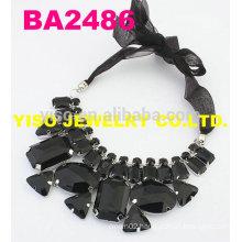 black fashion rhinestone necklace