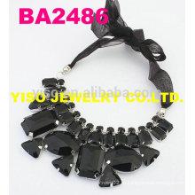 Черный ожерелье из горного хрусталя