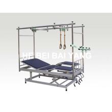 (A-141) Cama de tracción ortopédica inclinada con patas desmontables