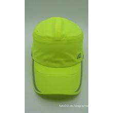 Outdoor fluoreszierende grüne 100% Polyester Baseball Golf Cap (ACEK0047)