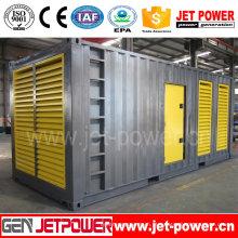 Gerador diesel elétrico à prova de som de 600kw 750kVA posto pelo motor de Doosan