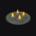 Gul / vit ljusflimmer Led Floating Candle