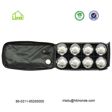 73mm Mini Bocce Ball com saco de nylon preto