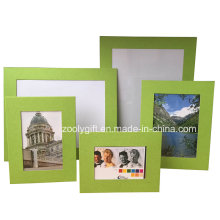 Surtido de color Verde textura de papel de arte Promocional marco de fotos de regalo