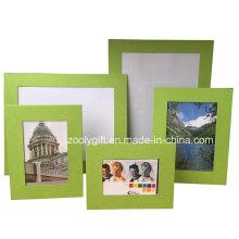 Assorted cor verde texturizados papel de arte promocional Gift Photo Frame