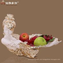 Schönheit figurine Harz handgemachtes Zuhause dekoratives Obst Tablett