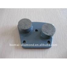 Placas trapezoidales de diamante para la molienda de hormigón