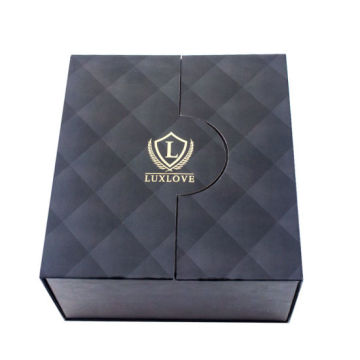 Luxury Black Double Double Wine Wine Paper Box