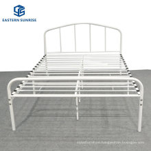 Simple Fashion Queen King Size Hotel Bedroom Furniture Metal Bed