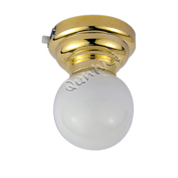 Miniature LED button battery dollhouse ceiling lamp