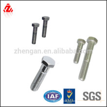 Tornillo de acero inoxidable m10x1.25 de alta calidad