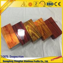 Grão de madeira personalizada da electroforese 3D do perfil da extrusão de alumínio para o perfil do tubo