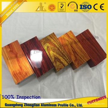 Profil en bois adapté aux besoins du client en aluminium 3D d'électrophorèse de profil d'extrusion pour le profil de tube