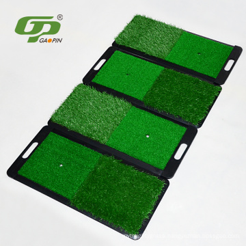 Pad Golf Practice Mat (2-in-1 Fairway/Rough) - Practice like the pros with a portable mini fairway and rough hitting mat