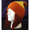 Jayne Hat TriColor hat with earflaps