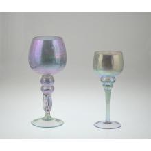 Porte-bougie en forme de verre en couleurs