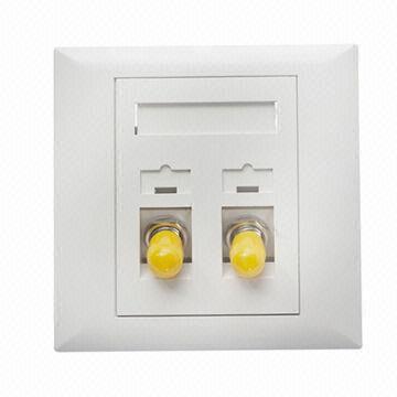 St оптоволоконная лицевая панель с материалом ABS и 2 портами