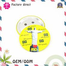 Custmo Hight Quality Металлический значок кнопки
