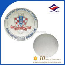 Custom one side polishing futebol moeda moeda moeda