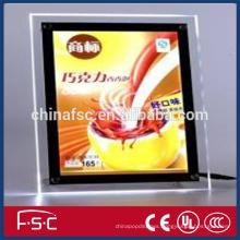 Digital sign led crystal light box with high quality acrylic