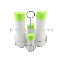 set for 4pcs ceramic oil and vinegar dispenser with silicone lid