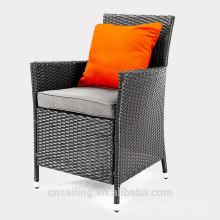 Chaise de meuble de jardin rembourré en aluminium imperméable et populaire